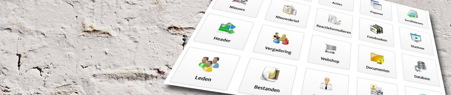 Compleet CMS met webshop